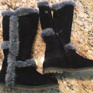 Other - Primigi (girls) black suede boots size 27 (10)